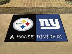 """NFL - Steelers - Giants House Divided Rug 33.75""""x42.5"""""""