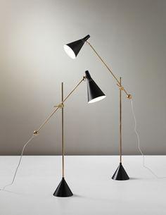 Tapio Wirkkala, pair of standard lamps, model no. K 10-11, circa 1954 for Idman. Phillips Nordic Design, September 2013.