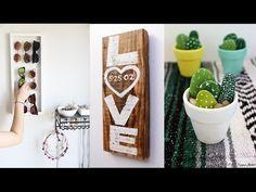 20 DIY Room Decor - DIY Room Decoration - Home Decor DIY Pinterest 2017 | Cantinho do Video
