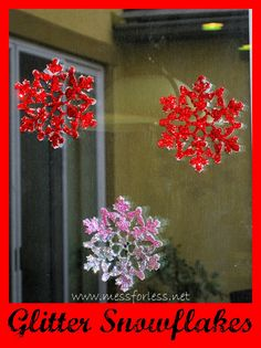 Glitter Snowflakes   Mess For Less