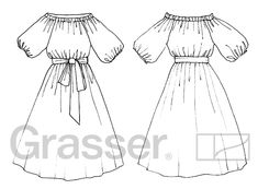 Бесплатная выкройка платья, модель 170,  магазин выкроек grasser.ru, магазин выкроек grasser.ru, #sewingpattern #freepattern #dressmaking