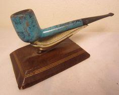 Vintage Big Ben Jeans Blue Marble Colored Billiard Estate Briar Tobacco Pipe 589