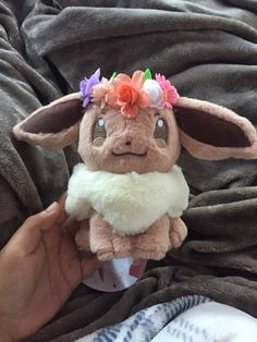 selling this authentic Pokemon Center 2018 Eevee plush! purchased from asakura-japan and it's sold out! she's approx and super adorable with her flower crown! perfect for any eevee or Pokemon fan! Pokemon Dolls, Pokemon Plush, Cute Pokemon, Kawaii Plush, Cute Plush, Cute Stuffed Animals, Baby Animals, Baby Animal Drawings, Cute Baby Cats