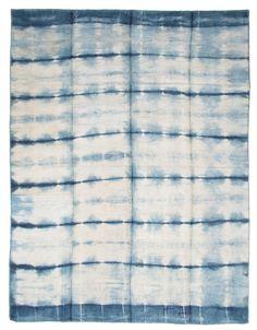 Vintage Shibori Kilim Number 20027, Vintage Modern Kilim | Woven Accents