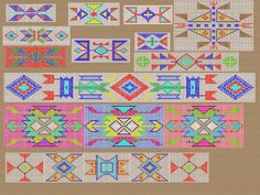 Native American Tribal Beading Patterns | American Indian bead pattern sampler A few patterns in a small, usable ...