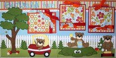 """Momz """"Backyard Fun"""" 12x12 Premade Pages Boy Girl Child by Donna Paper Piecings   eBay"""