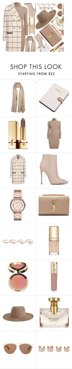 """""""Beige Vibe"""" by monmondefou ❤ liked on Polyvore featuring Calvin Klein, Yves Saint Laurent, Rumour London, Tory Burch, Akira Black Label, Marc by Marc Jacobs, Eddie Borgo, Dolce&Gabbana, Ciaté and Smith & Cult"""