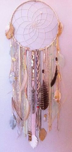 everyone could bring a trinket to hang and make one big dream catcher.