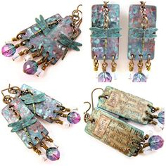 Dragonfly Earrings - Dream and Wish | Janet Wilson ChuckieGirlCreations