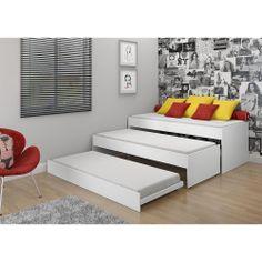 Tricama 0739 Branco Brilho - Multimóveis -Móveis e Colchões - Cama - Walmart.com