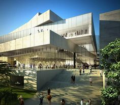 Gorgeous rendering color from Fox is Black's interview w/ Mecanoo Architects