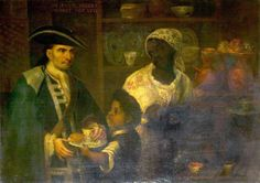 """De español y negra se produce un mulato"". Mexican School, Castas collection at New Walk Museum in Leicester."