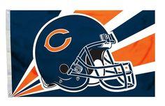 Chicago Bears Flag Flag 3x5 Helmet Z157-2324594201