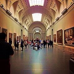 Museo Nacional del Prado in Madrid, Madrid this museum houses such treasures as..The Annunciation by Fra Angelico, Las Meninas by Velasquez and The Garden of Earthly Delights by Hieronymus Bosch