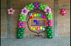 Arco de globos flores