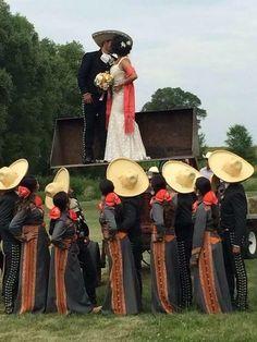 A singular Wedding!!!! Amazing Charros!!! Mexican Style! Bridesmaids!