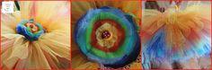 tęczowa spódniczka tutu + tęczowa opaska, strój na bal przebierańców