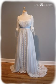 edwardian inspired wedding gown | Edwardian Era Inspired Blue Wedding Dress - ... | Wedding Gowns Vinta ...