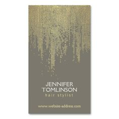 Elegant Golden Dot Pattern on Black Business Card Template. This great business card design is available for customization. All text style, colors, sizes can be modified to fit your needs. Just click the image to learn more! Hairstylist Business Cards, Makeup Artist Business Cards, Black Business Card, Business Card Design, Business Ideas, Bussiness Card, Gold Confetti, Flyer, Card Templates