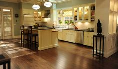 I've been drooling over Booth and Brennan's new house on Bones.  Love the kitchen island.