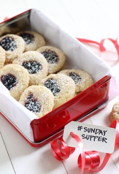 Butter and Blackberry Jam thumbprint cookies #SundaySupper | Crispy Bits & Burnt Ends