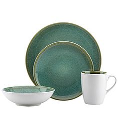 gibson elite couture casa caravino turquoise 16piece dinnerware set gibsonhome pinterest
