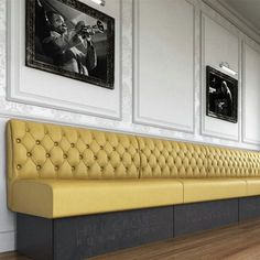 Hill Cross Furniture Banquette Seating-but skirted to the floor, with corner pleats