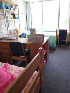Double dorm room Image--i wish my room was big enough for this!