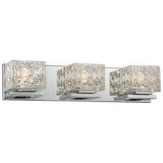 "Possini Euro Design Crystal Strand 25 34"" Wide Bath Light Best Crystal Vanity Lights For Bathroom Review"
