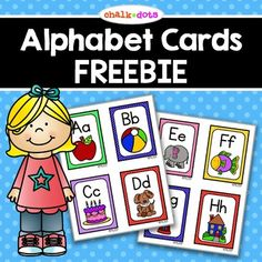 Alphabet Cards - These cute colorful alphabet cards are perfect for teaching beginning sounds or reviewing beginning sounds. You can use them in a variety of ways: flashcards, word wall labels, matching game, etc. There are four alphabet cards per Teaching Letters, Learning The Alphabet, Learning Spanish, Alphabet Activities, Preschool Activities, Alphabet Phonics, Preschool Alphabet, Free Preschool, Alphabet Wall Cards