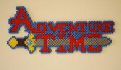 Adventure Time logo perler beads by princessk