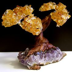 Citrine (for abundance and joy) and amethyst (for spirituality). Just got this one for the mediation room.AWESOME!