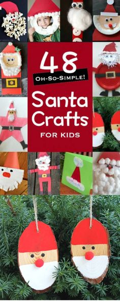 Bring home the ho-ho-ho spirit with these simple santa crafts for kids. Santa Crafts For Kids To Make, Christmas Crafts For Toddlers, Childrens Christmas, Preschool Christmas, Christmas Activities, Toddler Crafts, All Things Christmas, Holiday Crafts, Christmas Holidays