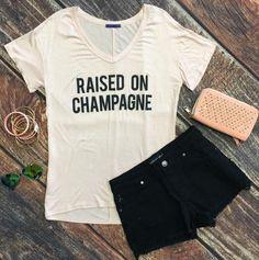 Raised on Champagne Top: Blush