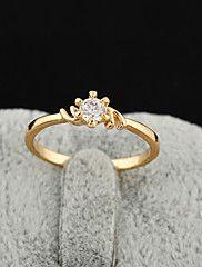Yueli Women's 18K Gold Zircon Ring J0304 – AUD $ 1.42