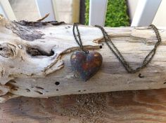 Bubble Heart Necklace by StencilledGarden on Etsy, $25.95