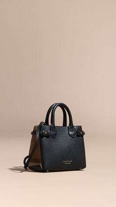 The Baby Banner in Leather and House Check - Black Burberry Sale Pay With Visa Outlet Original Sale Discount Exclusive Cheap Online SPy7G4