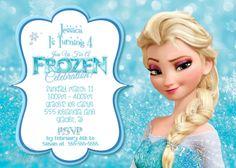 Frozen Birthday Invitation Frozen Birthday by CustomPartyCards Disney Frozen Birthday, Frozen Birthday Party, 4th Birthday Parties, Birthday Fun, Birthday Ideas, Elsa Birthday Invitations, Frozen Invitations, Frozen Crafts, Elsa Olaf