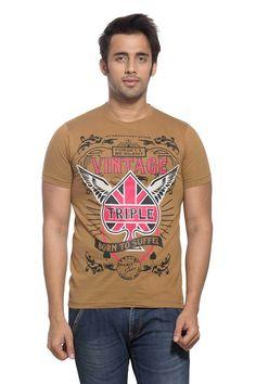 661c03cf Maniac Mens Printed Half Sleeve Round Neck Tshirt 10 Days, Tshirts Online,  Casual Shoes
