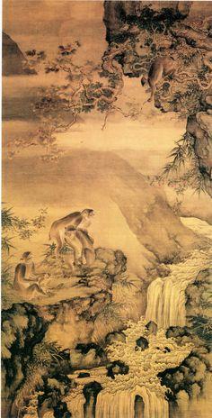 Shen Quan (沈銓) ,  蜂猴图 故宫博物院