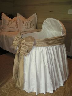 Reference pic: gathered skirt bassinet with cover and bow by sterling anabella My Baby Girl, Our Baby, Home Design, Style Deco, Everything Baby, Baby Time, Having A Baby, Kind Mode, Baby Fever