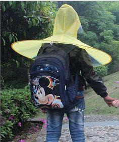 Creative Raincoat Umbrella Headwear Hat Cap Outdoor Fishing Golf Child Adult Rain Coat Cover Transparent Umbrellas Size S/M/L