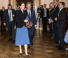 Crown Princess Mary beams to guests at the City Hall for the unveiling of the Christmas Se...