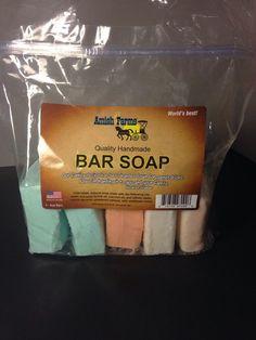 Amish Farms Bar Soap Bag Of 5 Bars /4oz Bars #Amish
