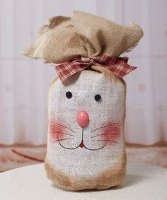 Loving this Tall Burlap Bunny Bag on #zulily! #zulilyfinds