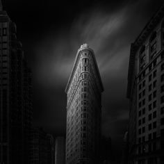 Photography, Digital in Construction, Edifice, Building, ND Filter, Black and White, Long Exposure, A Rembrant portrait of the Flatiron building in Manhattan, New York - Image #509586