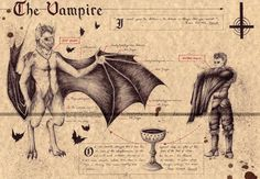 Mythical Creatures Art, Mythological Creatures, Magical Creatures, Gothic Fantasy Art, Humanoid Creatures, Legends And Myths, Vampire Art, Arte Horror, Creature Design