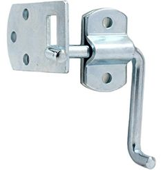 Pkg of (2) Corner Gate Latch Sets for Stake Body Gates - Clear Zinc