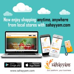 Enjoy shopping online anytime anytime, anywhere  http://sahayyam.com Our platform, your business.  #SellingOnline #OnlineStore #OnlineSellers #OnlineShopping #order #Shop #online #Sahayyam #ShopOnline #eCommerce #DigitalIndia #business #GooglePlay #AppStore