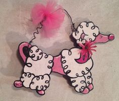 PARIS Pink POODLE DOG,Gigi*BOUTIQUE,company,BOMBAY,kid,girl*bedroom wall decor #ChalfinDesigns